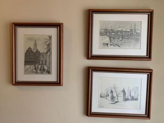 Group of Dutch Framed Prints