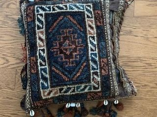 Small Decorated Afghan Pillow