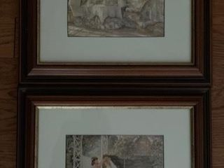 Pair Small Tricia Romance Framed Prints