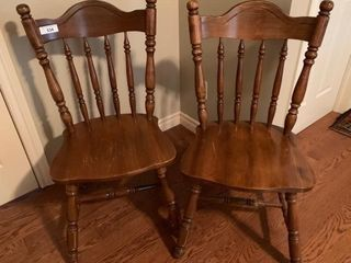 Pair of Wooden Sidechairs
