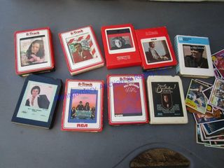 8 TRACK TAPES   SPORTS CARDS