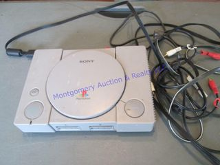 sony playstation with cords