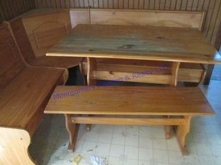 kitchen nook table and benches