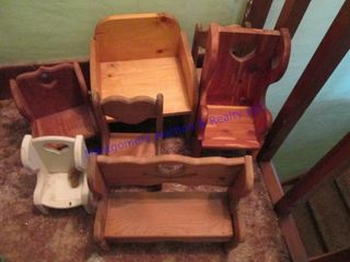 wooden doll chairs