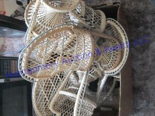 Wicker doll chairs