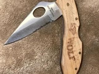 Timber Wolf stainless steel knife  wood handle