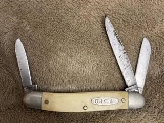 Old Cutlery 3 blade pocket knife  Made in the USA