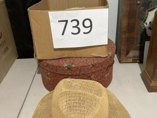 Vintage hats and hat box