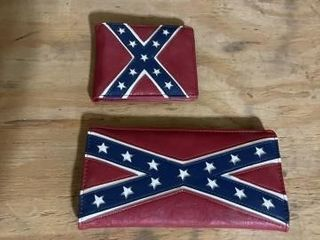 Confederate flag wallet and checkbook cover