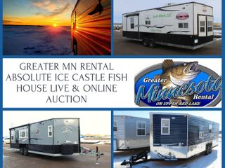 Annual Greater Mn Rental-Absolute Ice Castle Fish House Live & Online Auction