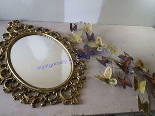 MIRROR   BUTTERFlY DECOR