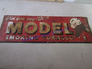 MODEl SMOKING TOBACCO SIGN
