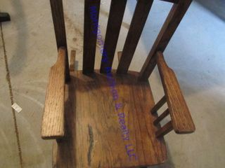 OAK CHIlD S CHAIR