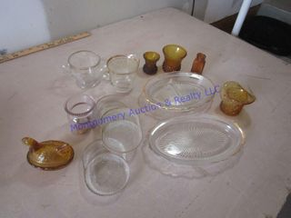 AMBER   ClEAR DISHES