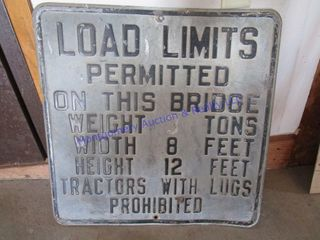 lOAD lIMITS SIGN