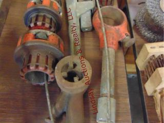 Group of Rigid hand pipe threader   pipe wrench