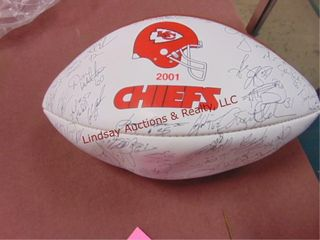 KC Chiefs signed 2001 Football