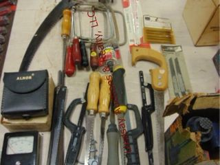 lot of coping saws  hack saws  drywall saws