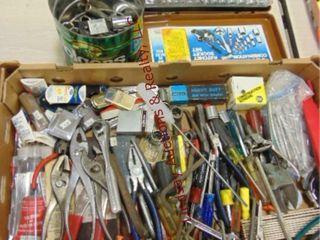 Box misc tools  pliers  nut drivers  40pc sockets