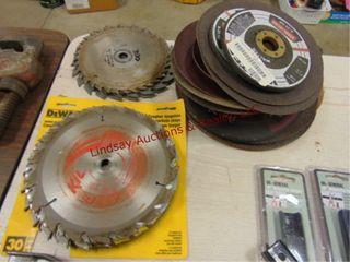 3 stacks  saw blades  grinder whls  New   used