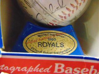 Autographed 1985 Royals baseball