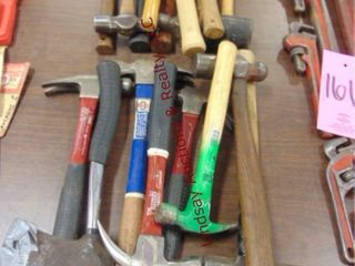 Approx 16 various type hammers