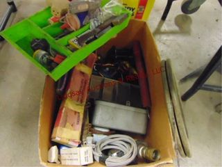 Box  electrical  fish tape   other items