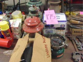 3 Coleman lanterns  Coleman cookstove   others