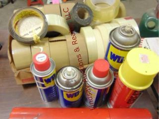 Box of tape  WD40  c clamps