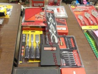 11pcs Craftsman   Stanley tools  mostly NIP