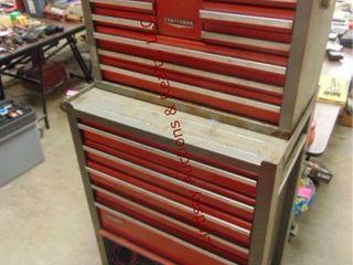 Craftsman 15 drawer 2pc tool box on whls