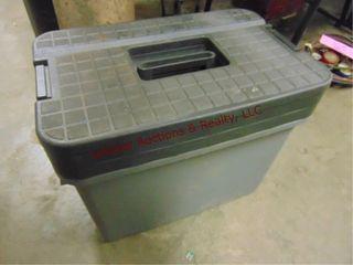 Plastic Craftsman tool box 20 5 w x 13 d x 17 h