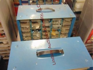 3 sorter bins WITH CONTENTS  see pics
