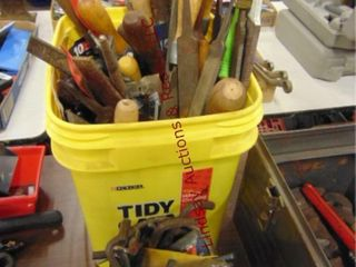 Bucket of files  allen wrenches