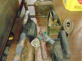 Sad irons  vintage blow torch