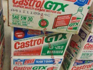 2 5 cases  32 bottles Castrol 5w 30 motor oil