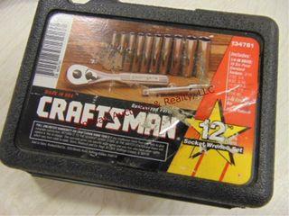 Craftsman 12pc 1 4 drive socket set