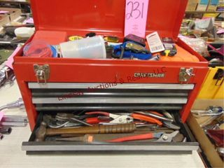 3 drawer Craftsman tool box w  contents SEE PICS