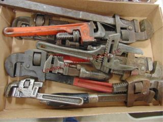 1 box  8 pipe wrenches