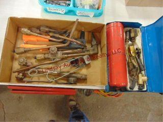 Flat  torch heads  rivet gun  propane torch