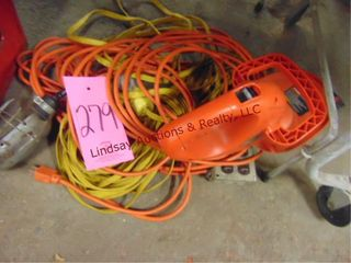 Approx 4 ext cords  B D hedge trimmer