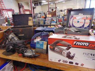 6 pwr tools  Rotozip  skil circ  saw