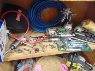 Group of air tools  nail guns  impact  drill