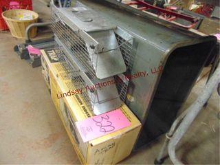 3 small animal traps   metal trash can