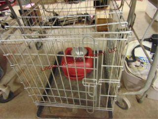 Pet cage  19 x 24  x 21  travel pet seat  bowls