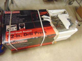 NIB Craftsman 12  drill press w  digital depth