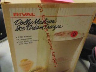 Rivel elec  Ice cream freezer  2qt