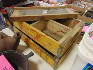 2 wood vintage Coca Cola crates  Joplin  MO