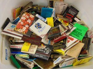 Tub of advertisement match books