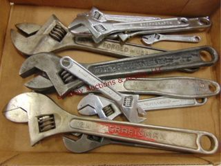 Flat of combo wrenches